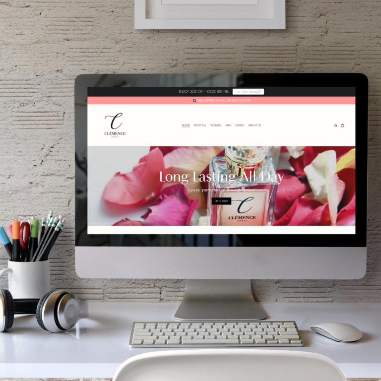 Webdesign und Re-Design für Clemence Paris New York