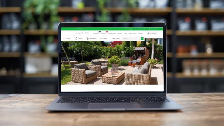 E-Commerce Webdesign und Entwicklung Lounge Manufaktur